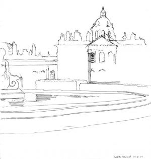Castle Howard, fineliner pen