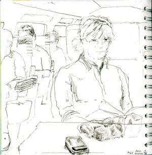 Drawn on the TGV